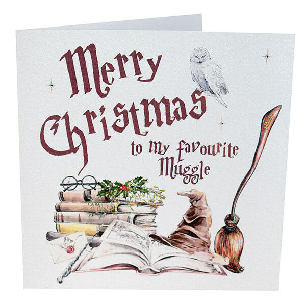 harry potter merry christmas to my favourite muggle christmas card xmas card 1 of 1free shipping