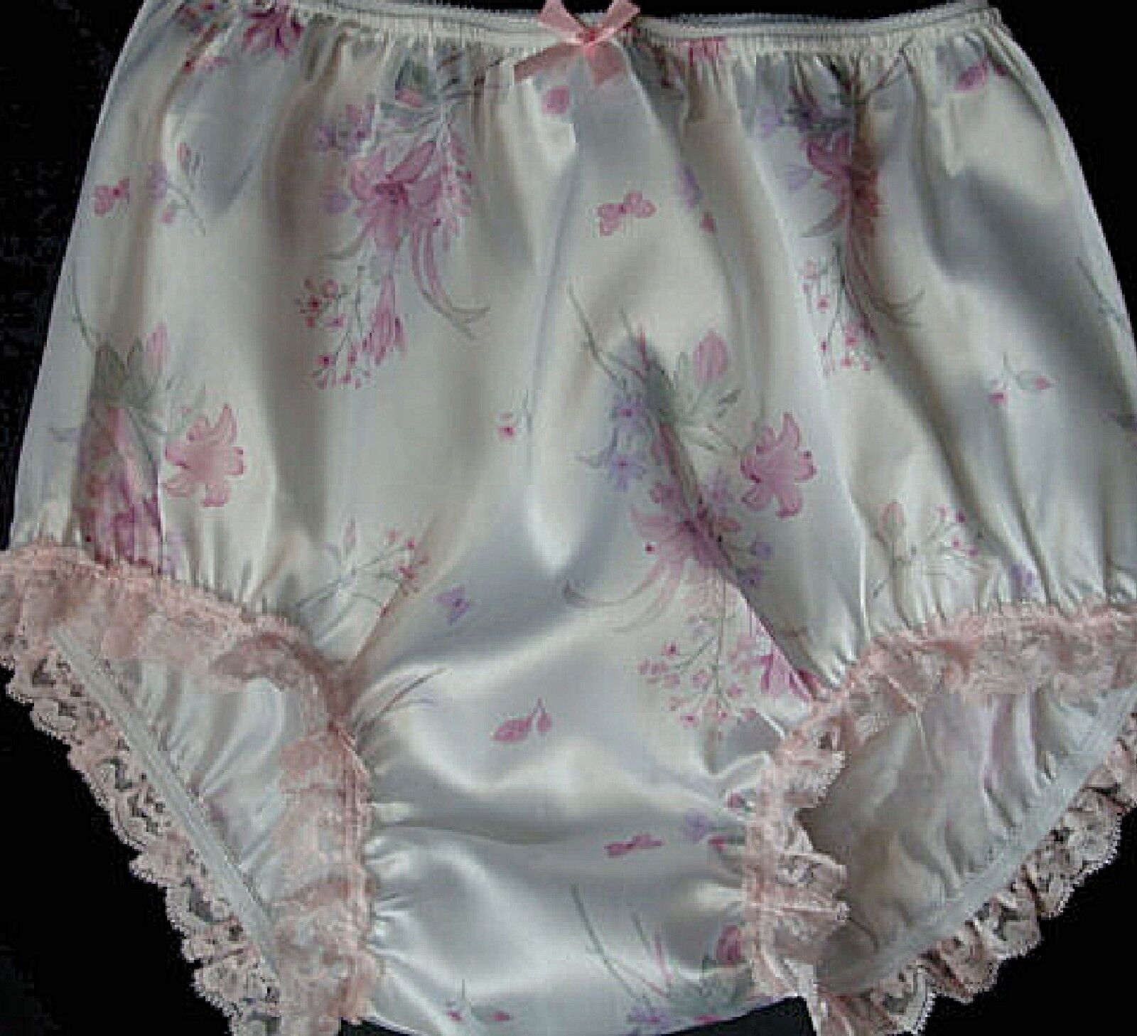 satin panty frilly Sissy