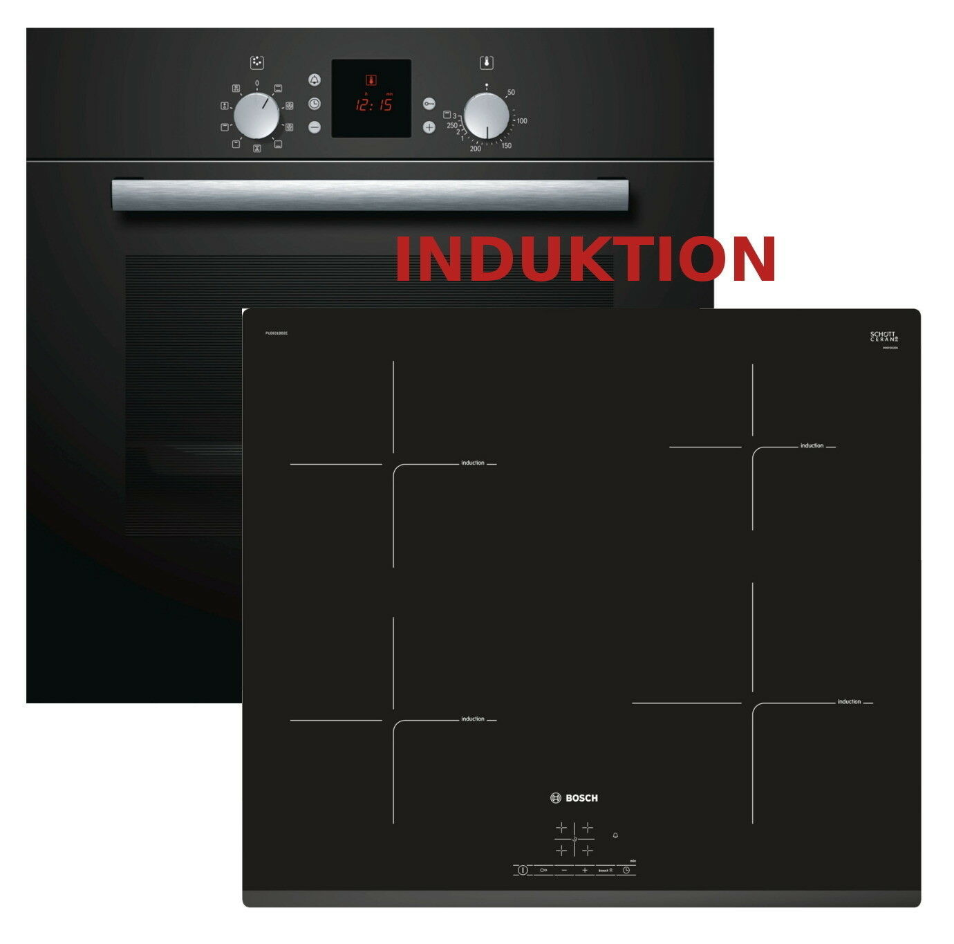 Backofen set induktion induktion herd set autark bosch for Induktionsherd set