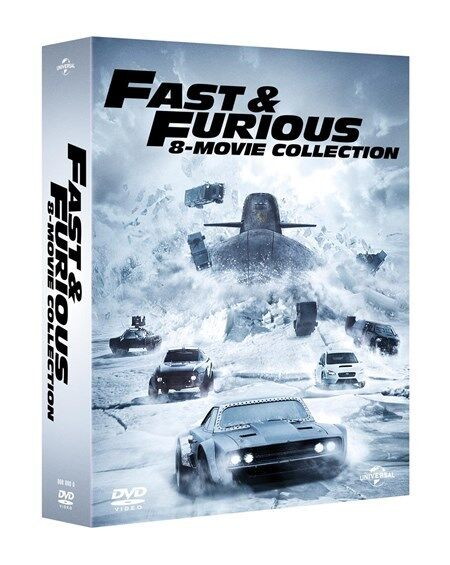 fast and furious 1 8 complete movie collection dvd box set new and sealed the picclick uk. Black Bedroom Furniture Sets. Home Design Ideas