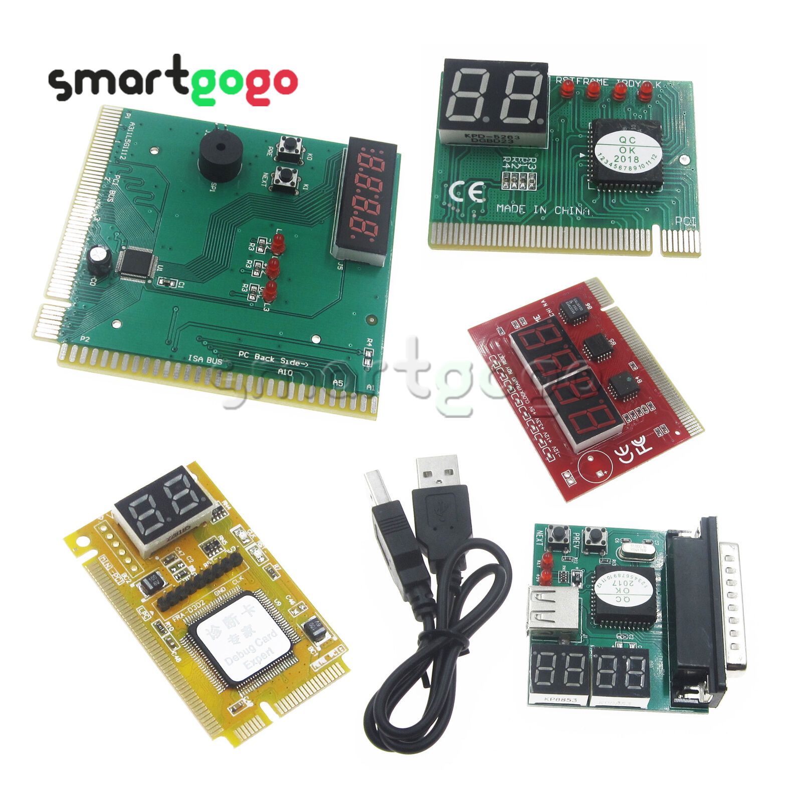 2 4 Digit 3 In1 Pci E Pc Analysis Diagnostic Usb Card Post Top 10 Pcs 50mmx70mm Single Side Copper Cover Pcb Circuit Board Stripboard 1 Of 6free Shipping