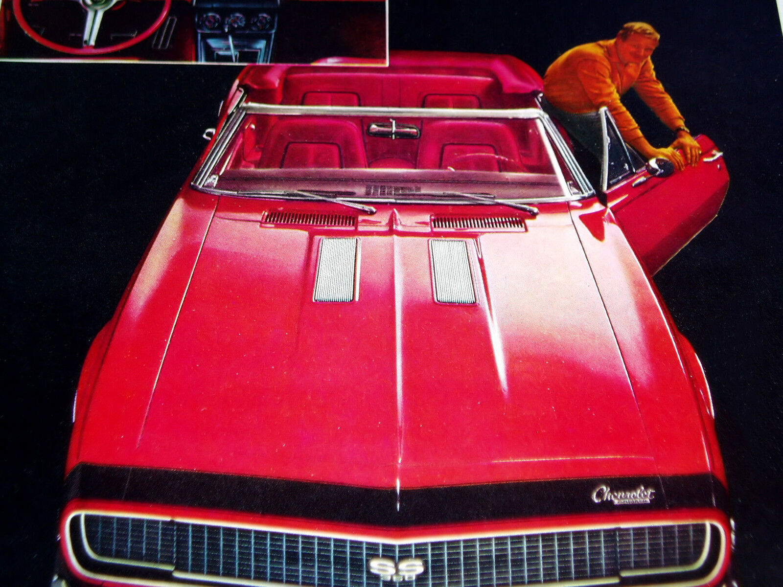 1967 Camaro Ss 350 Convertible Original Ad Rs Z28 Seat Hood Door 1968 Chevrolet Dub Edition 1 Of 2 See More