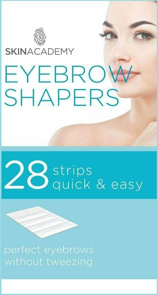 56 Eyebrow Shaper Wax Strips Easy Hair Removal Flawless Shaping
