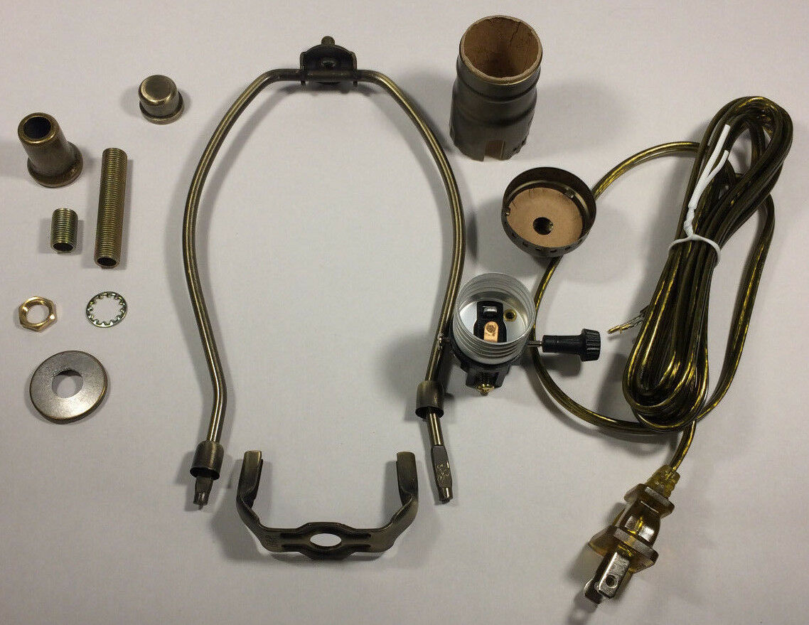 Table Lamp Wiring Kit W 10 Antique Finish Harp3 Way Socket Kits 1 Of 3only 2 Available