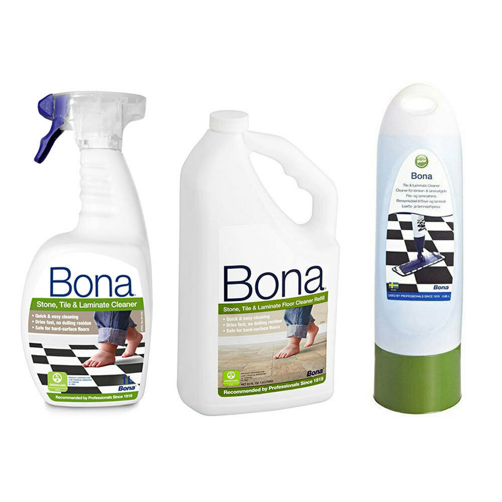 BONA STONE Tile Laminate Floor Cleaner 2.5L Bottle/1L Spray/850ml ...