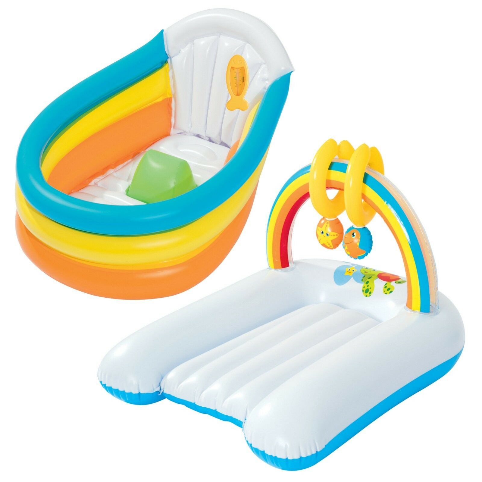 BESTWAY INFLATABLE BABY Bath Seat Chair Changing Mat Travel Wash ...