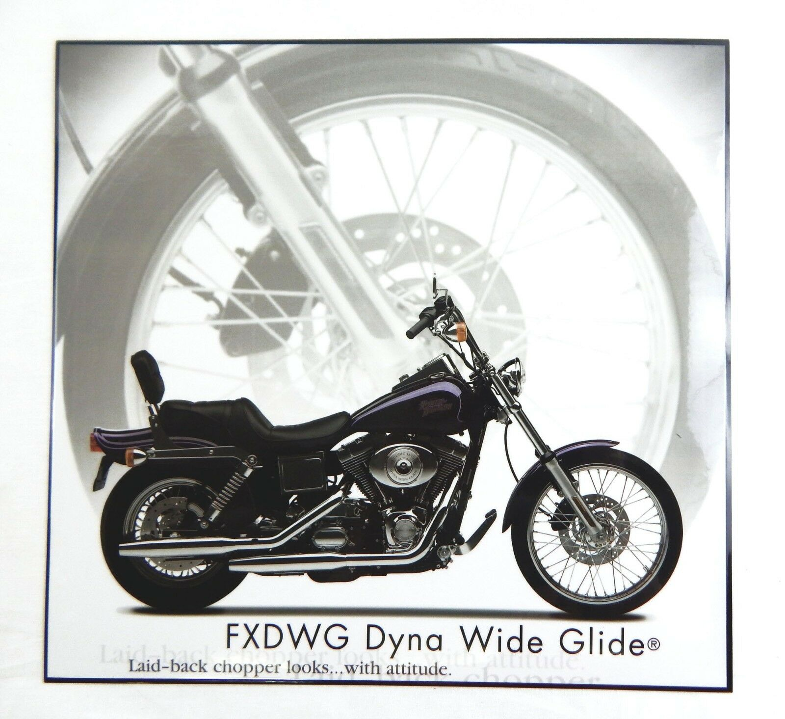 Harley Davidson FXDWG Dyna Wide Glide Motorcycle Laminated Print 1 of 1Only  1 available ...