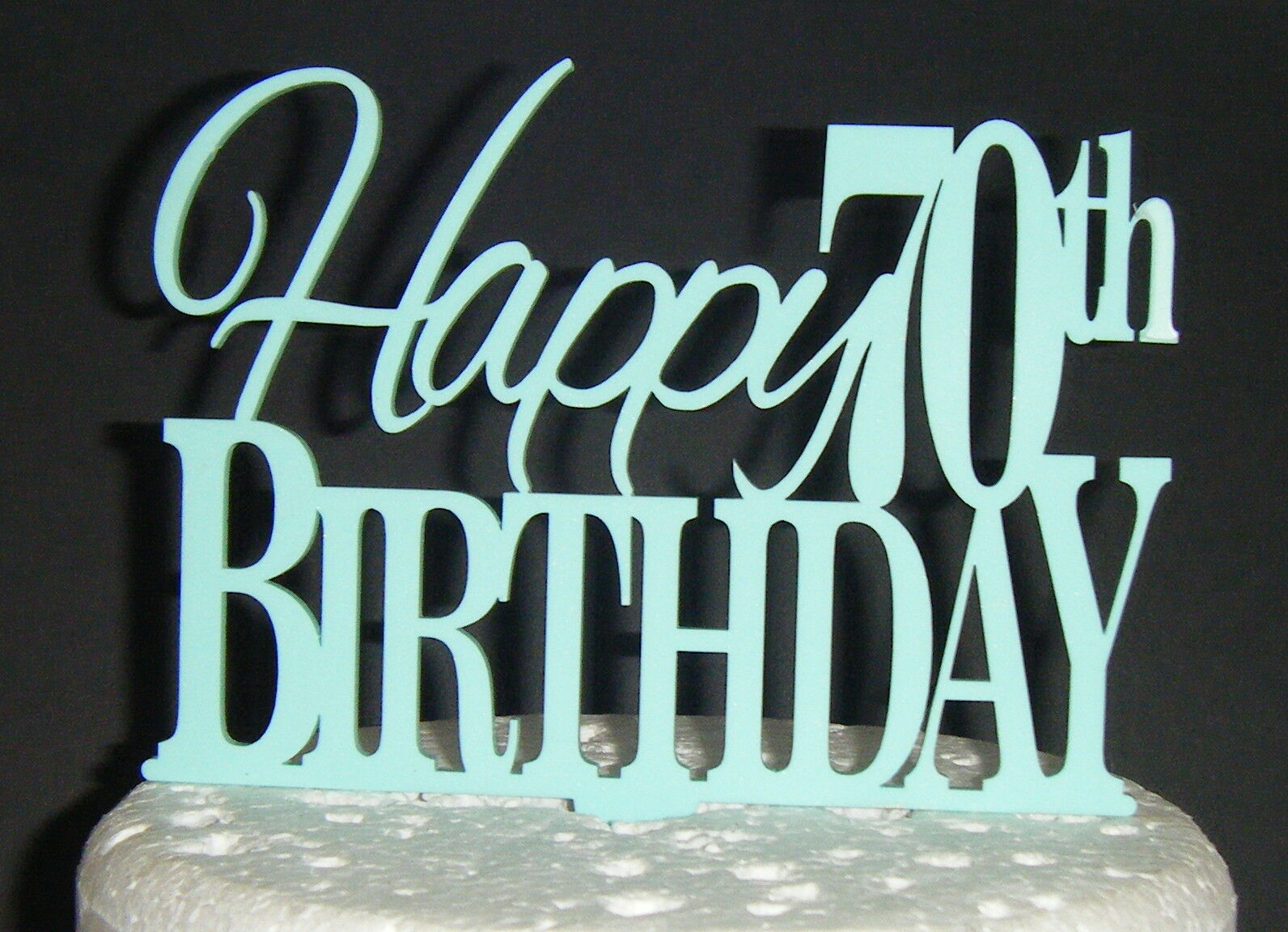 Happy 70th Birthday Cake Topper Acrylic Or Wood 1200 Picclick Uk