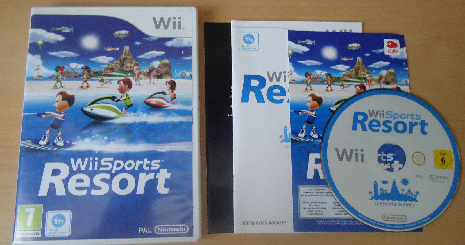 wii sports resort nintendo game complete with manual club points rh picclick co uk Wii Sports Resort Wii RVL-001