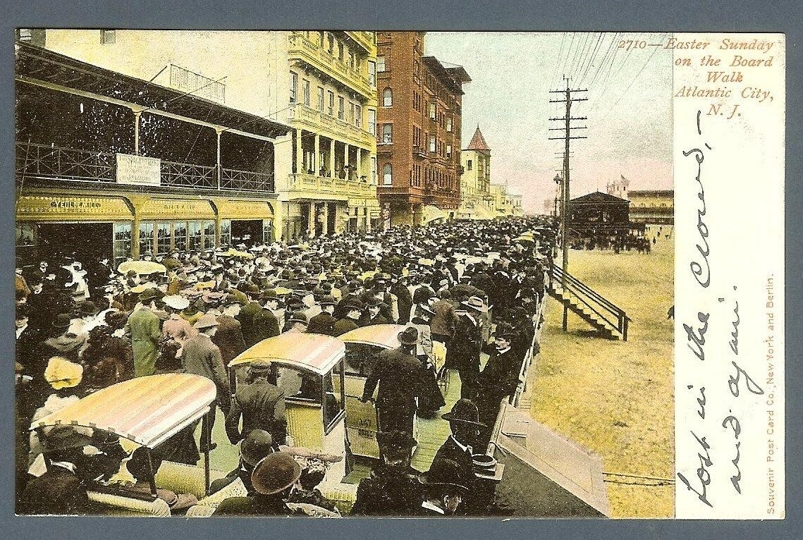 atlantic city nj early 1900s easter sunday boardwalk rolling chairs