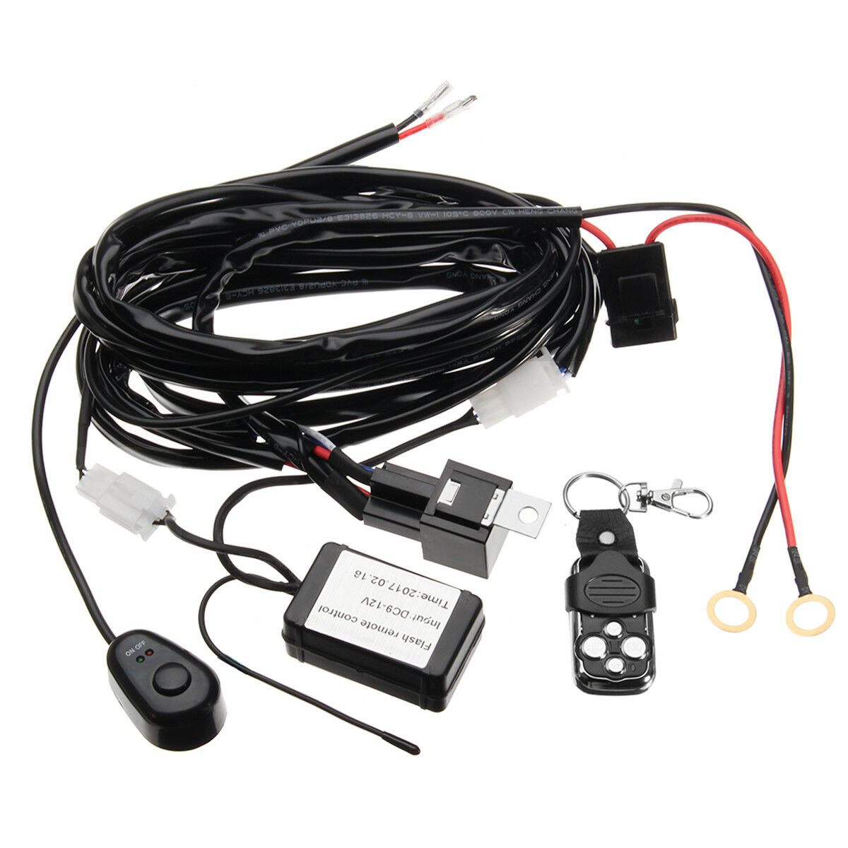 2m Remote Control Wiring Harness Switch Relay Kit Led Work Light Bar Hid Driving 40a 12v Ebay 2 Leads 1 Of 8free Shipping See More