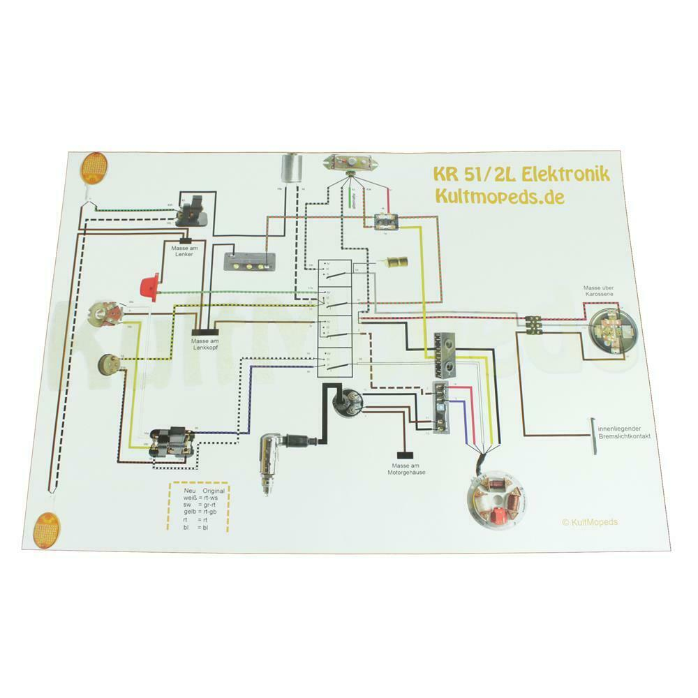 Circuit Diagram Pas F Simson Kr51 2 L Schwalbe Electronic Ignition Fire Harley Wire For Duo 1 Of See More