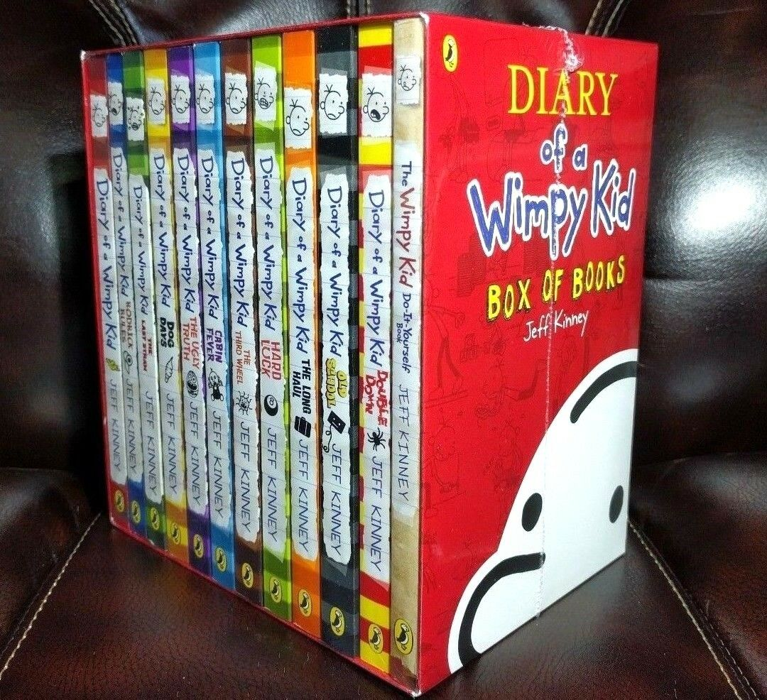 Diary of a wimpy kid collection box set 12 books by jeff kinney 1 of 6only 2 available solutioingenieria Choice Image