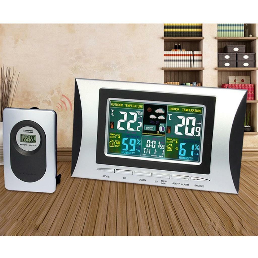 Wireless Indoor Outdoor Temphumidity Meter Clock Thermometer Digital Multifunction And Hygrometer With Alarm Humidity 1 Of 8only 3 Available