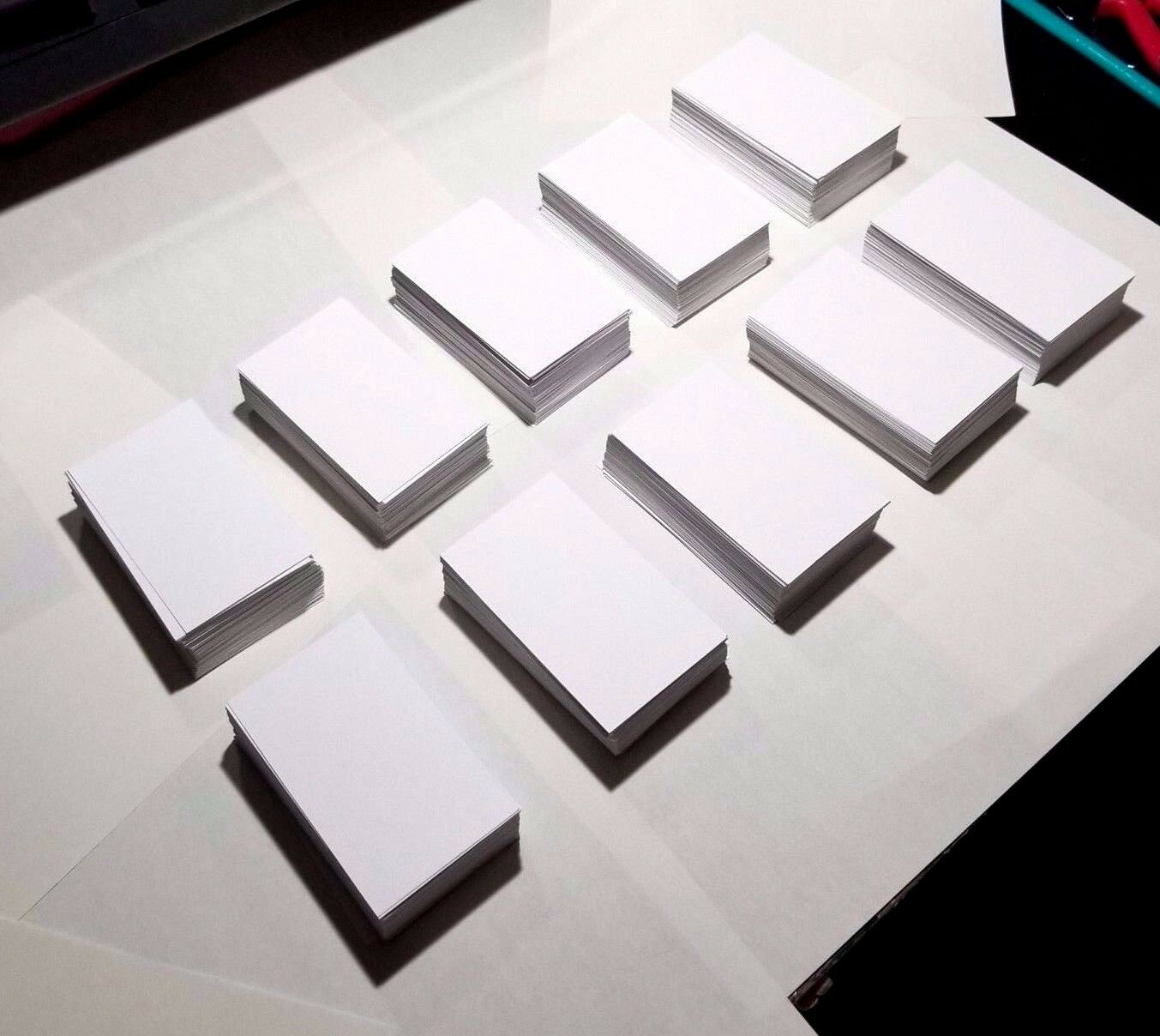WHITE BLANK BUSINESS Cards - 1000 ct. - 3.5\