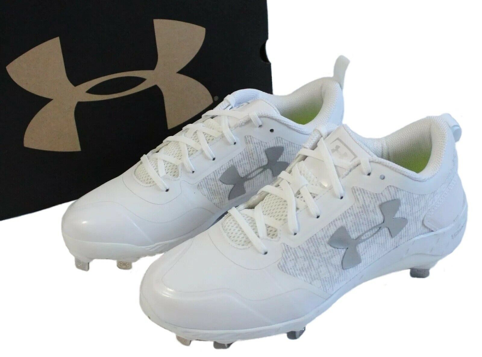 e230fa8fd7659 Under Armour Mens Size 8 Yard Low ST Baseball Cleats White 1293900-100 Shoes  1 of 7Only 3 available See More