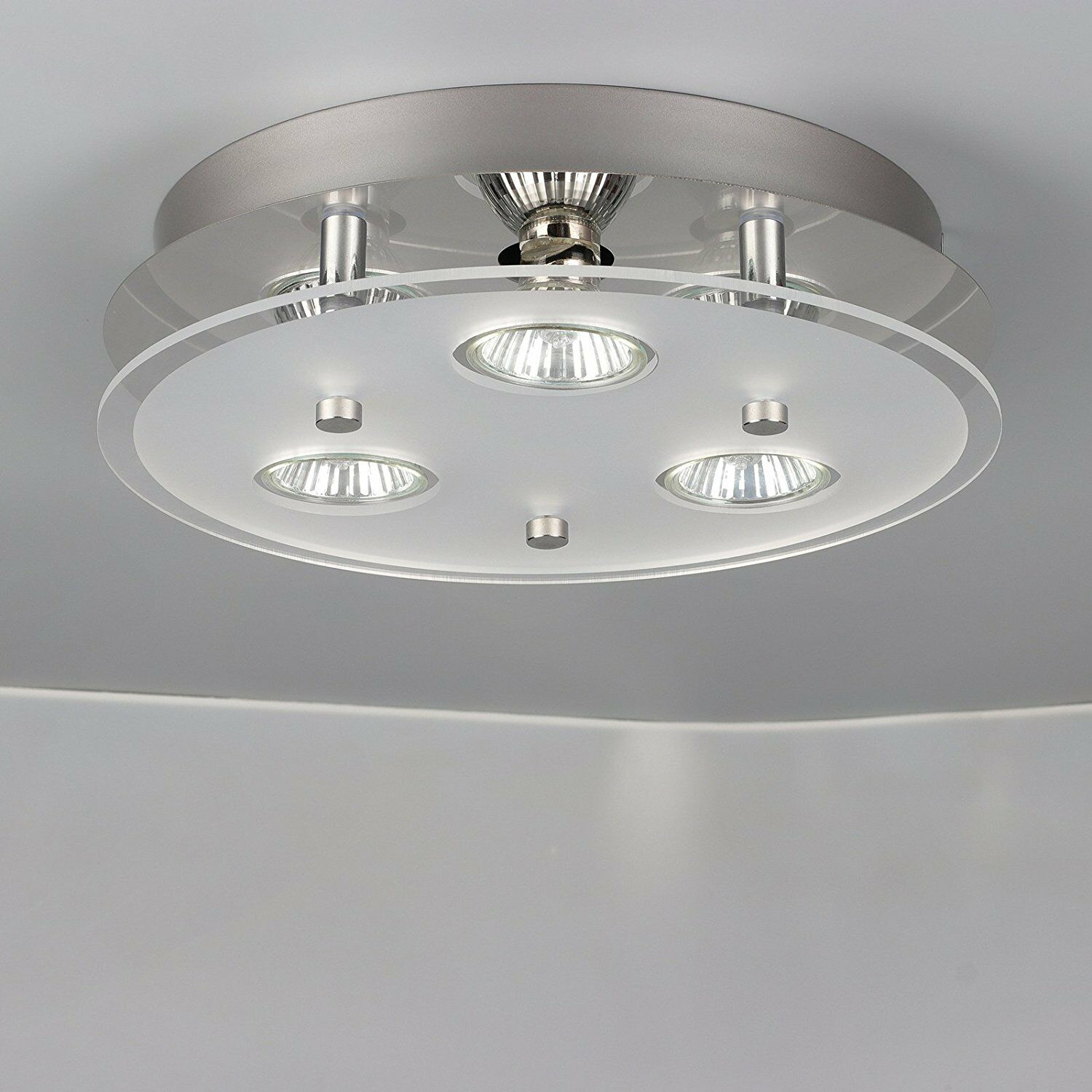 Modern 3 way gu10 led ceiling light fitting ceiling spotlight modern 3 way gu10 led ceiling light fitting ceiling spotlight kitchen lights uk 1 of 1free shipping see more aloadofball Image collections
