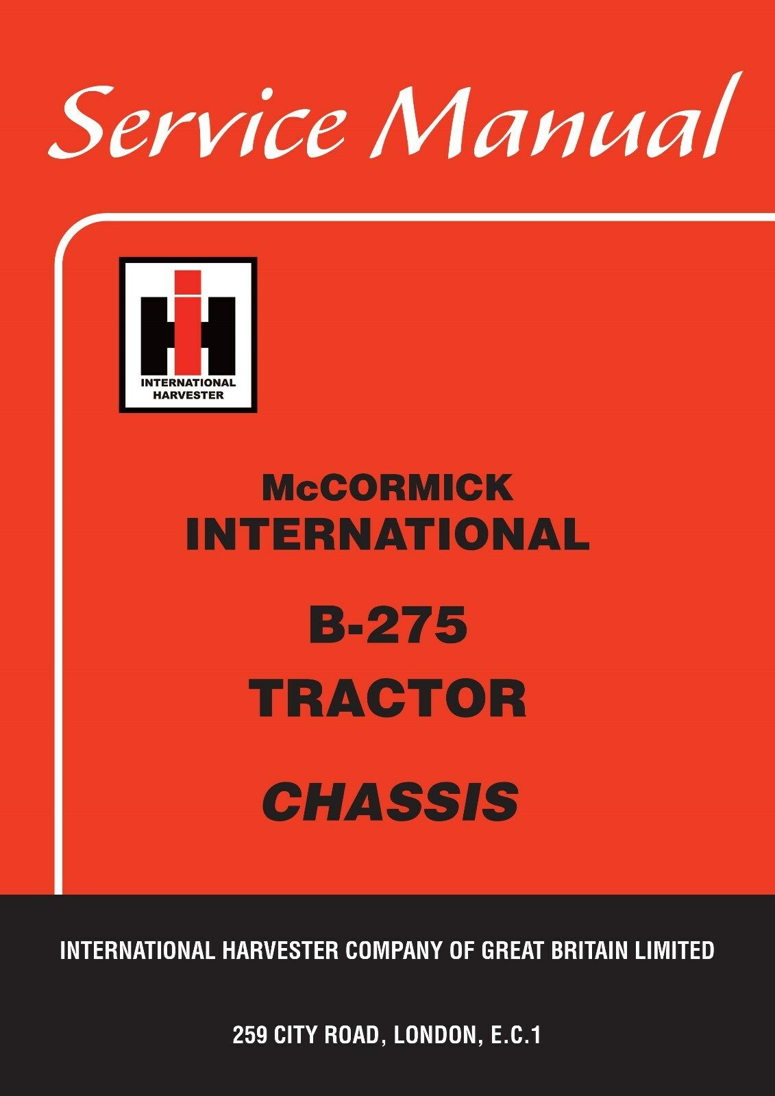 McCormick International B275 Tractor Service Manual 1 of 1 See More