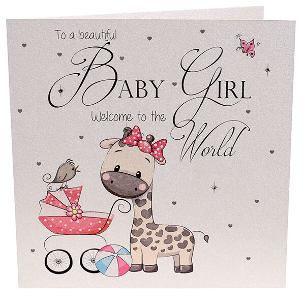 new baby girl card welcome to the world card handmade luxury new