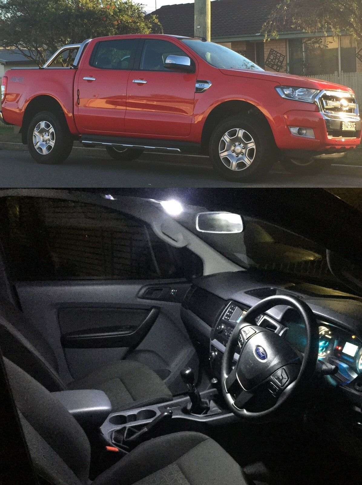 Ford Ranger 2016 2018 Interior Led Light Kit Dual Crew Cab Xl Xlt Hid Driving Bar Wiring Harness 40a Switch Relay 12v Ebay 1 Of 5only 5 Available