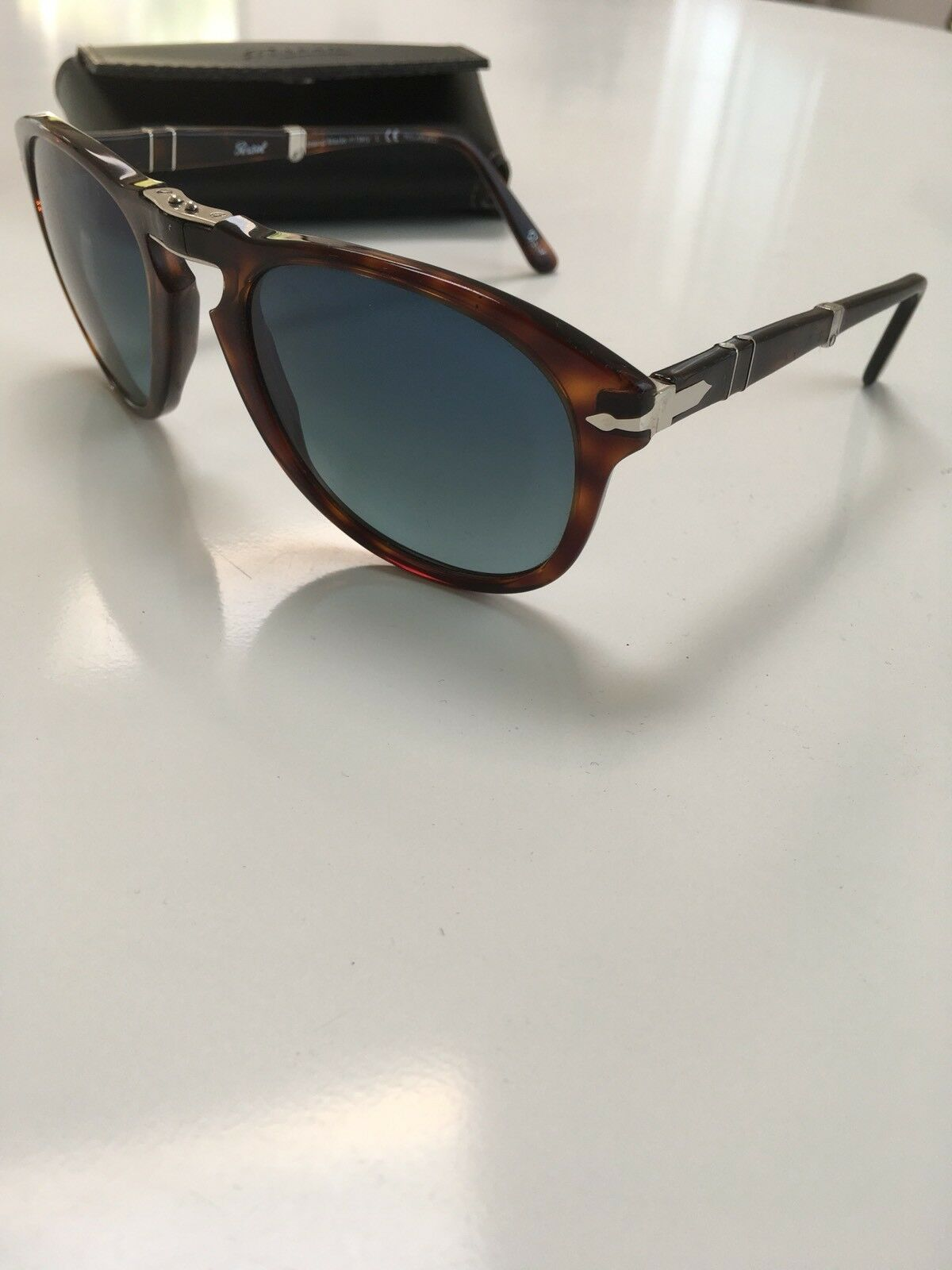 5a6d087c8832 Persol 714 24/53 54 21 140 2P Folding Polarized Sunglasses Made In Italy 1  of 11Only 1 available ...