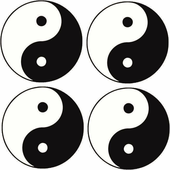 Yin Yang Symbol Car Decal Sticker Small Pack Of 4 499