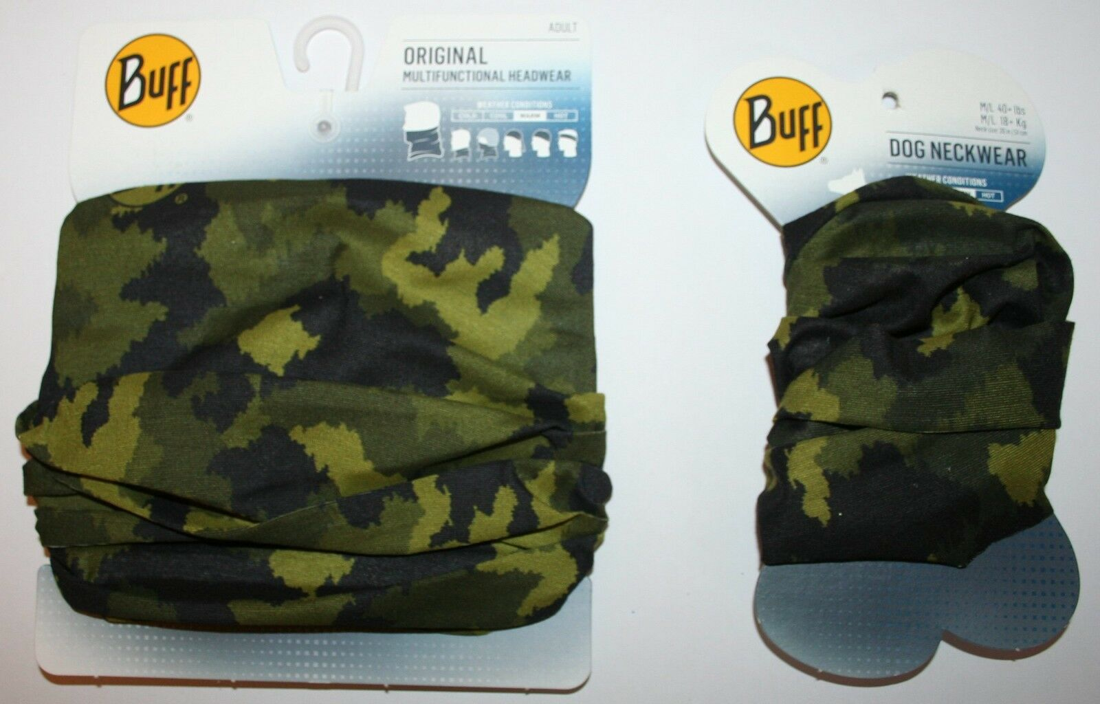 All New 2018 Original Buff Plus Matching Dog Hunter Military Afgan Graphite 1 Of 1only Available