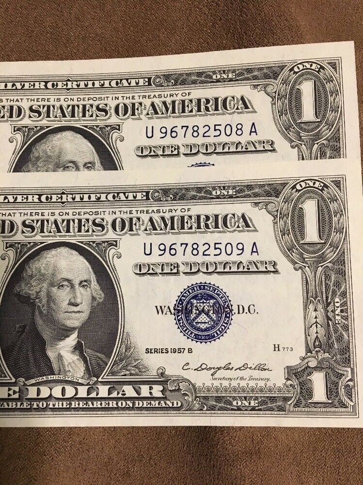 Nice One Dollar Silver Certificate 1957 B Model - Online Birth ...