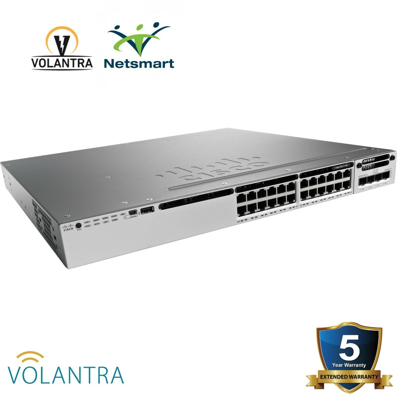 Smartnet Eligible Cisco Catalyst 3850 24 Poe 715wac Lan Base Ws 2960 S Switch With Vs Ip 1 Of 1only Available