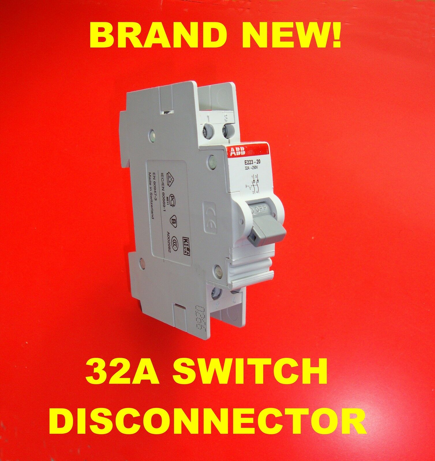 32a 250v Main Switch Disconnector Isolator Double Pole Din Rail Between Disconnectors Load Switches And Circuit 1 Sur Voir Plus