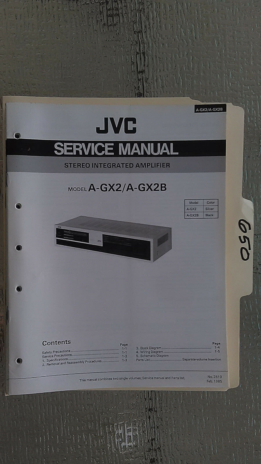 Jvc A Gx2 B Service Manual Original Repair Book Stereo Amp Amplifier Icom Ic A200 Wiring Diagram 1 Of 1only Available