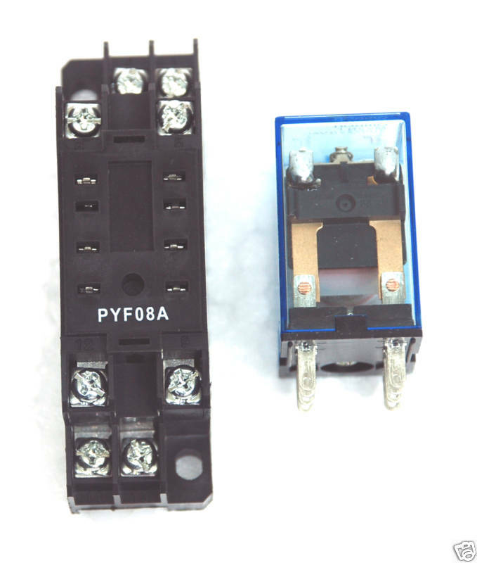 20pc relay socket pyf 08a pyf08a 8pin pcb terminal for omron my2 shinohaw