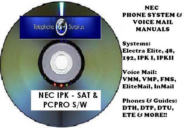 nec electra elite ipk cd manuals sat pcpro ipkii software rh picclick com nec electra elite ipk ii multiline telephone user guide nec electra elite multiline telephone user guide