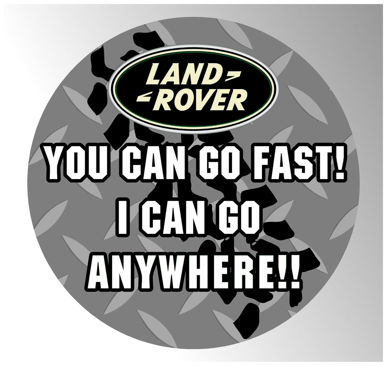 Spare Wheel Cover Sticker Decal 4x4 Land Rover Defender