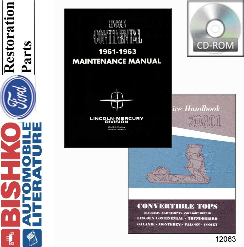 1961 1962 1963 Lincoln Shop Service Repair Manual CD Engine Drivetrain  Wiring OE 1 of 1Only 1 available See More