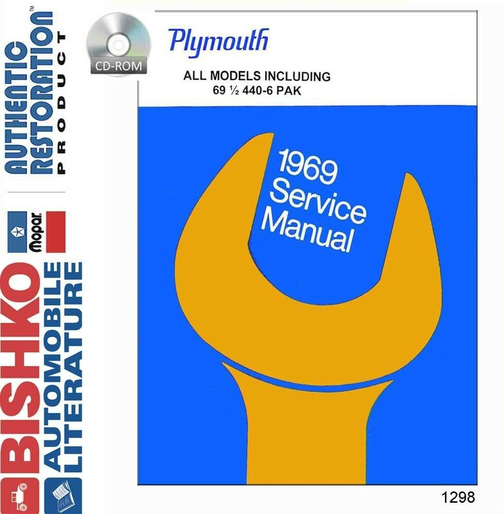 1969 Plymouth Fury Belvedere Satellite Shop Service Repair Manual CD OEM  Guide 1 of 1Only 1 available See More