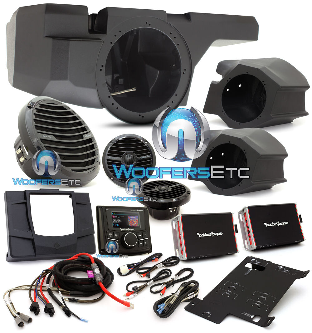 Rockford Fosgate Rzr Stage3 600w Stereo Amp Speakers Kit Razor Specs 1 Of 1free Shipping