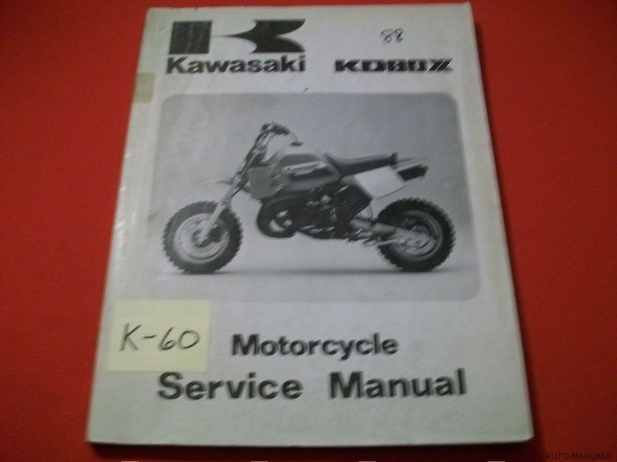 Kawasaki Kd80X Kd 80 X Factory Motorcycle Service Manual #99924-1099-01  1988 1 of 4Only 1 available ...
