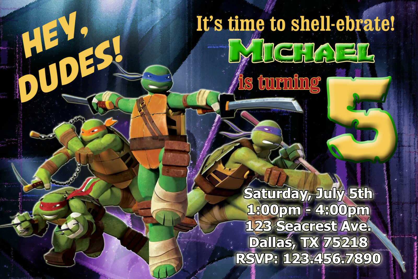 Tmnt Party Invitations for your inspiration to make invitation template look beautiful