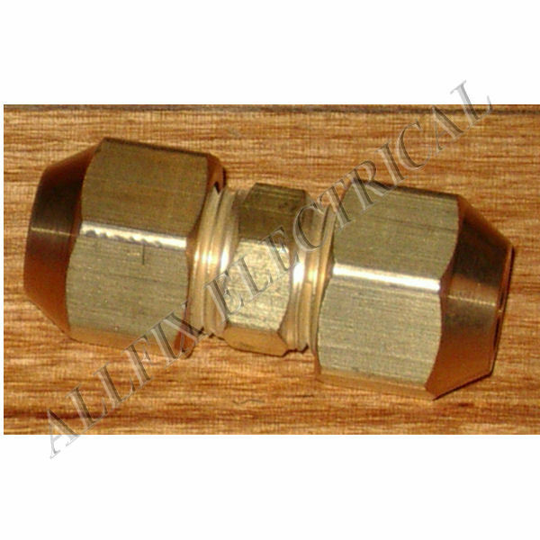 """Brass 3/8"""" SAE Flare Union With Flare Nuts - Part # RF422KIT"""