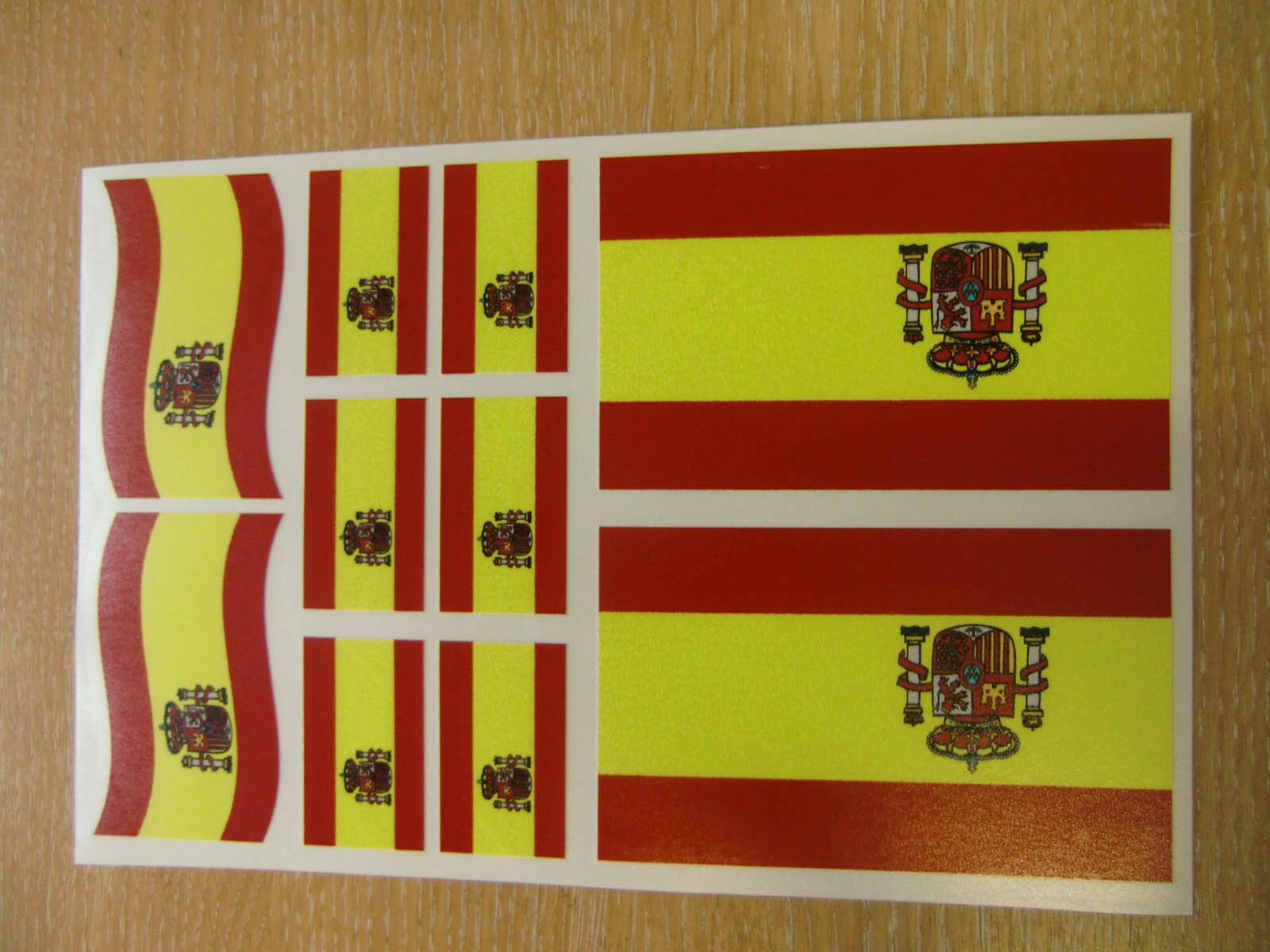 Spanish flag stickers sheet size 21cm x 14cm spain decals 1 of 1 see more