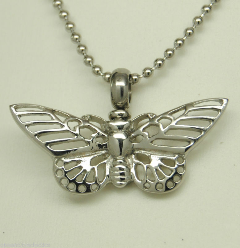 quot butterfly cremation jewelry butterfly urn necklace keepsake quot