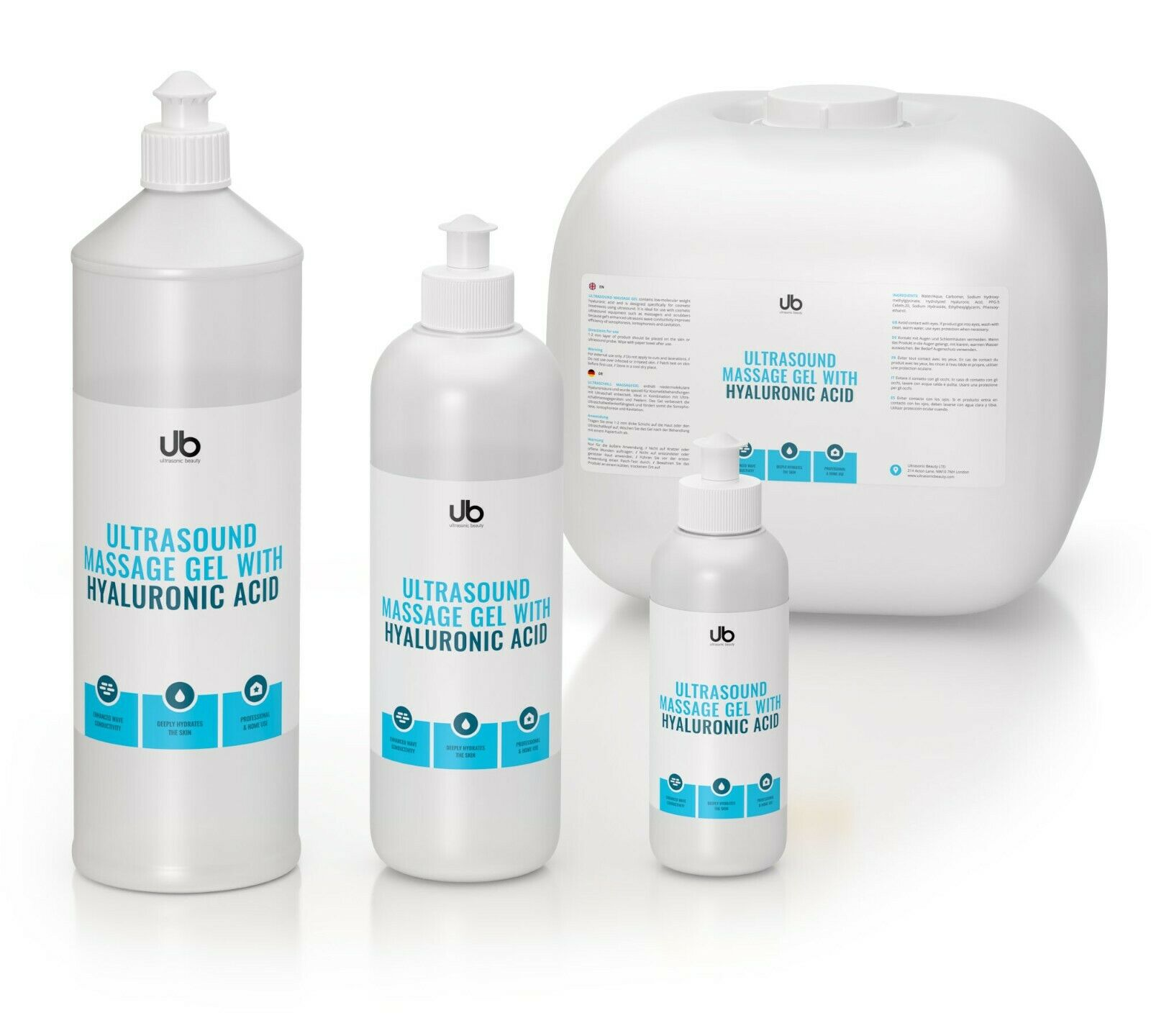 UB GEL Ultrasound/ Contact/Cosmetic gel Hyaluronic ...