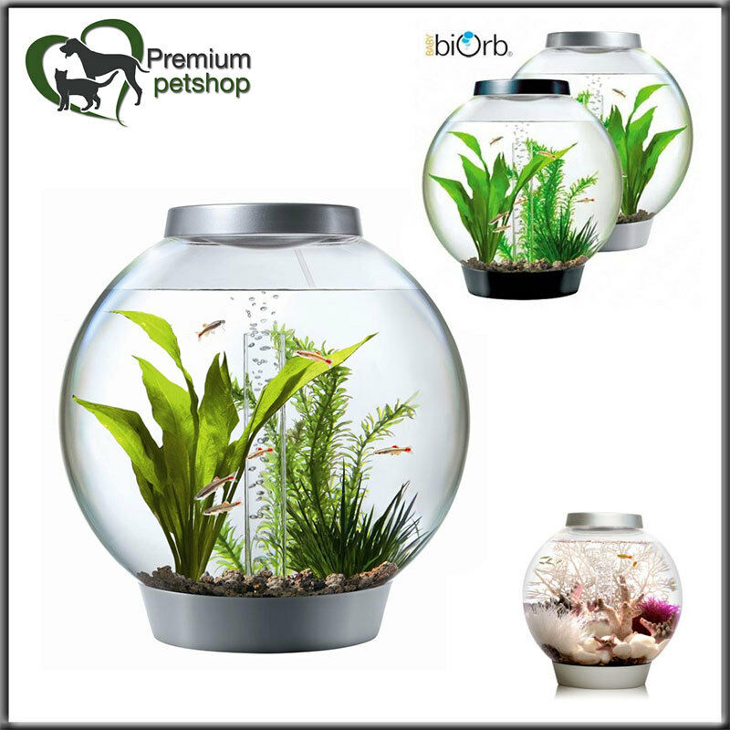 biorb Classic Design Komplett Kugelaquarium Set 60l Kaltwasser mit Moonlight LED