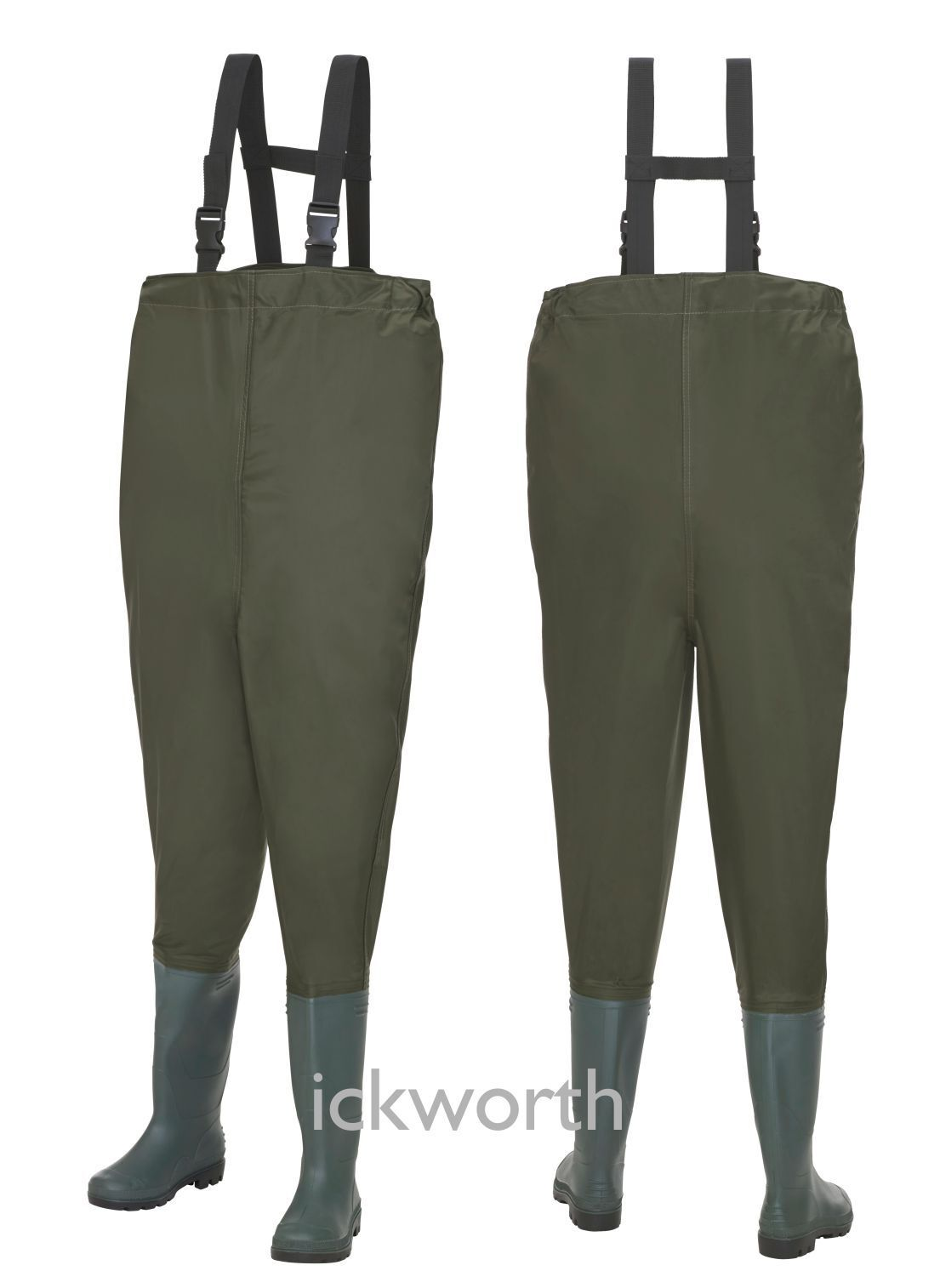 Fishing nylon chest waders waterproof elasticated fly for Chest waders for fishing