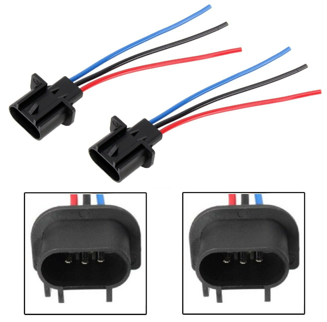 H13 Plug Harness Detailed Wiring Diagrams Diagram Wire Pigtail Male 9008 Two Plastic Headlight Replacement Hid Kits