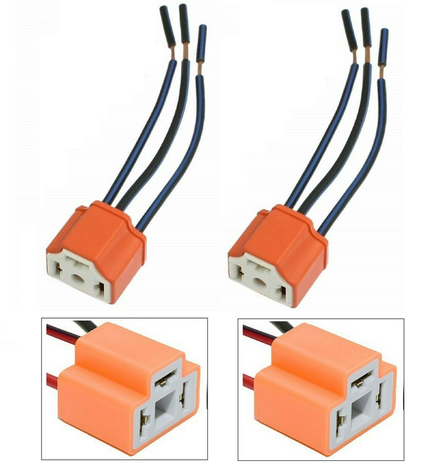 9003 H4 Bulb Wiring 9004 Headlight Wire Diagram Connections Pigtail Female Ceramic Hb2 Head Light Two Harness Rh Picclick Com Specifications
