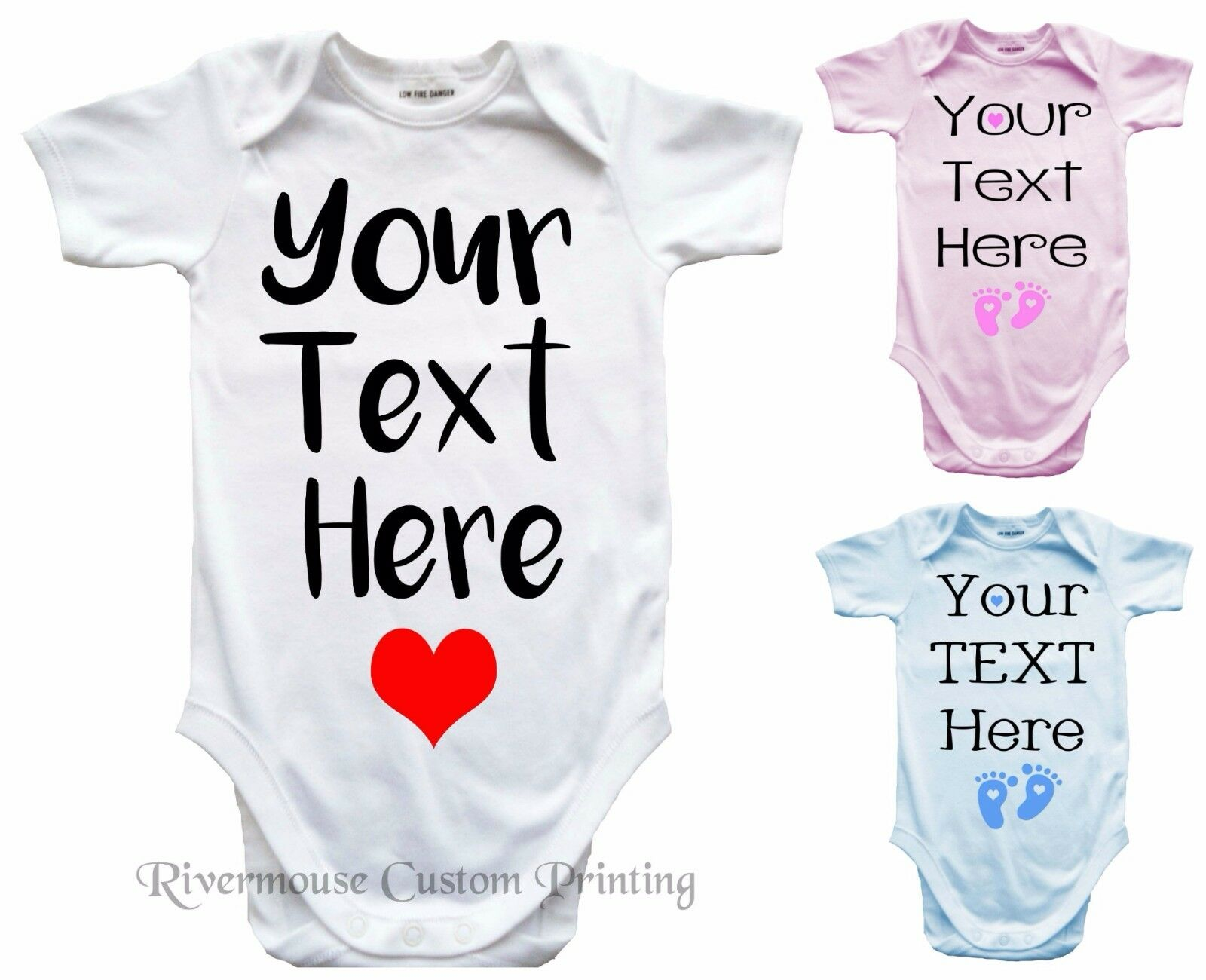 PERSONALISED Baby Romper Custom Text Infant One-piece Bodysuit Toddler T-Shirts