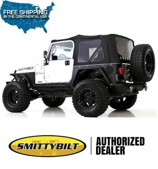 Smittybilt Premium Replacement Soft Top 97 06 Jeep Wrangler TJ 9974235  Black 1 Of 5FREE Shipping ...