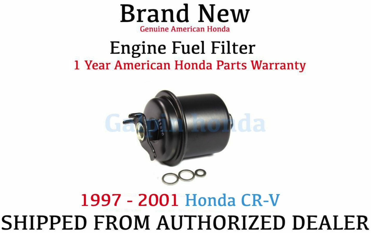Genuine OEM Honda CR-V Fuel Filter 1997-2001 1 of 2FREE Shipping ...